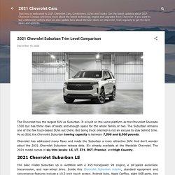 2021 Chevrolet Suburban Trim Level Comparison