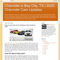 Chevy Cyber Sales Event at Reliance Chevrolet Buick GMC