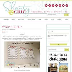 $10 DIY Chevron Brag Boards - Shanty 2 Chic