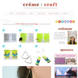 Crème de la Craft | Handmade projects repurposed from everyday objects.