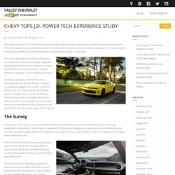 Chevy Tops J.D. Power Tech Experience Study