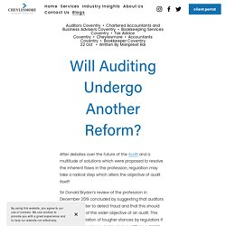Coventry Based Auditors — Cheylesmore Accountants