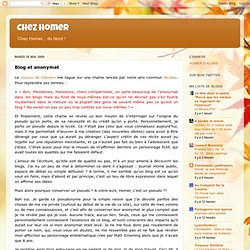 Blog et anonymat