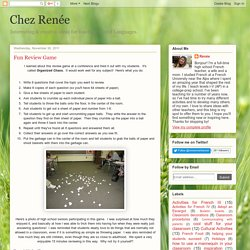 Chez Renée: Fun Review Game