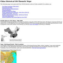 CHGIS Thematic Maps