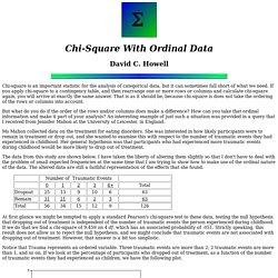 chi-square with ordinal data