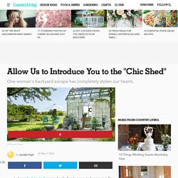 Chic Shed Backyard Decorating Ideas - She Shed Ideas