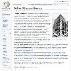 École de Chicago (architecture)