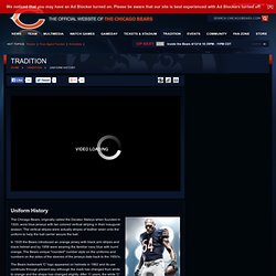History of the Chicago Bears Uniform - Chicago Bears