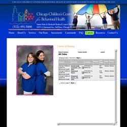 Chicago Children's Center for Behavioral Health Careers