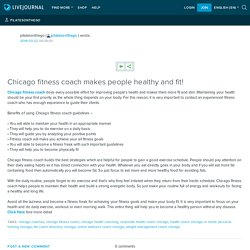 Chicago fitness coach makes people healthy and fit!: pilatesonthego