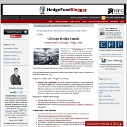 The Exclusive 1 Page Guide to Hedge Funds in Chicago