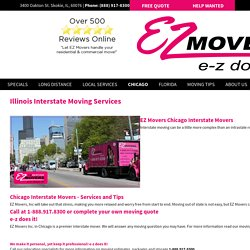 Interstate Moving Services in Chicago, IL - E-Z Movers