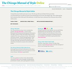 The Chicago Manual of Style Online