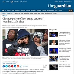 Chicago police officer suing estate of teen he fatally shot