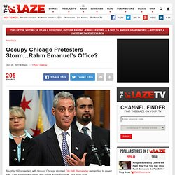 Occupy Chicago Marches on City Hall Demands to Speak to Mayor Rahm Emanuel