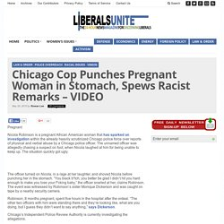Chicago Cop Punches Pregnant Woman in Stomach, Spews Racist Remarks - VIDEO