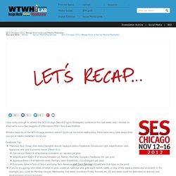 SES Chicago 2012 Recap from a Social Media Marketer