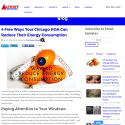 4 Free Ways Your Chicago HOA Can Reduce Their Energy Consumption