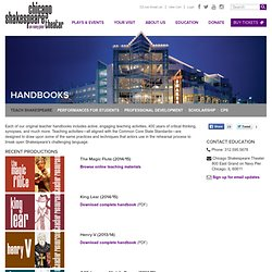 Chicago Shakespeare Theater: Handbooks
