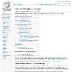 école de Chicago (sociologie)