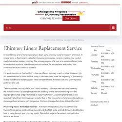 Chimney Relining - Chicagoland Fireplace & Chimney Restoration