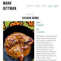 Chicken Adobo — Mark Bittman