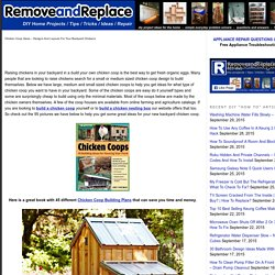 Chicken Coop Ideas - Designs And Layouts For Your Backyard Chickens