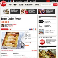 Lemon Chicken Breasts Recipe : Ina Garten