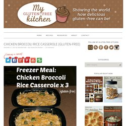 Chicken Broccoli Rice Casserole {Gluten-free}