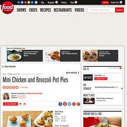 Mini Chicken and Broccoli Pot Pies Recipe : Giada De Laurentiis