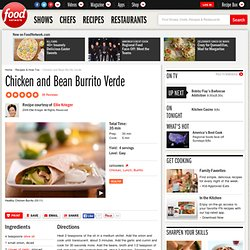 Chicken and Bean Burrito Verde