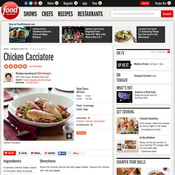 Chicken Cacciatore Recipe : Ellie Krieger