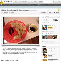 Chicken Dumplings with dipping Sauce