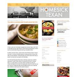 Tex-Mex chicken and dumplings recipe