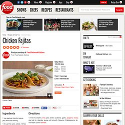Chicken Fajitas Recipe : Food Network Kitchens