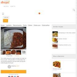 Chicken Jalfrezi Slow Cooker recipe