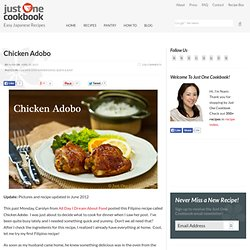 Chicken Adobo — Just One Cookbook
