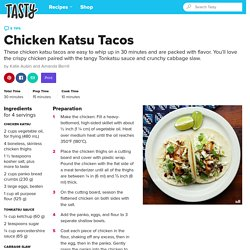 Chicken Katsu Tacos Recipe by Tasty