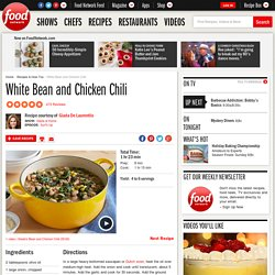 White Bean and Chicken Chili Recipe : Giada De Laurentiis