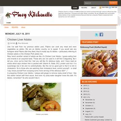 Pinoy Kitchenette: Chicken Liver Adobo