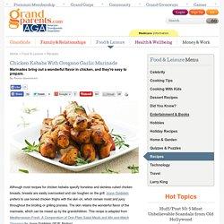 Chicken Kebabs With Oregano Garlic Marinade