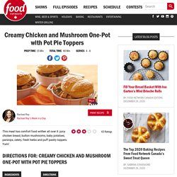 Creamy Chicken and Mushroom One-Pot with Pot Pie Toppers Recipes