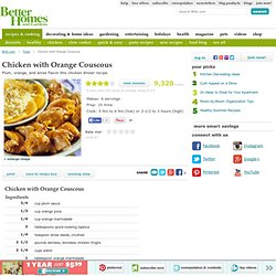 Chicken with Orange Couscous Recipe