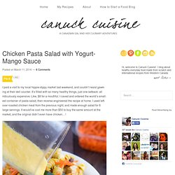 Chicken Pasta Salad with Yogurt-Mango Sauce