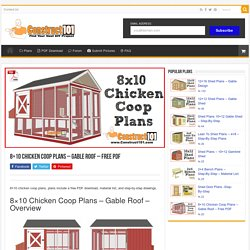 8x10 Chicken Coop Plans - Gable Roof - Free PDF - Construct101