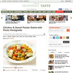 Chicken &Sweet Potato Salad with Pesto Vinaigrette
