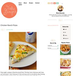 Chicken Ranch Pizza - Fake Ginger
