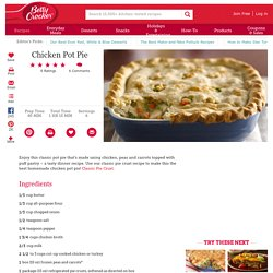 Chicken Pot Pie recipe from Betty Crocker