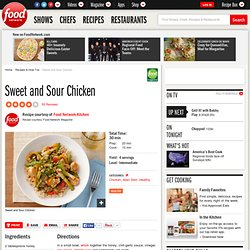 Sweet and Sour Chicken Recipe : Food Network Kitchens